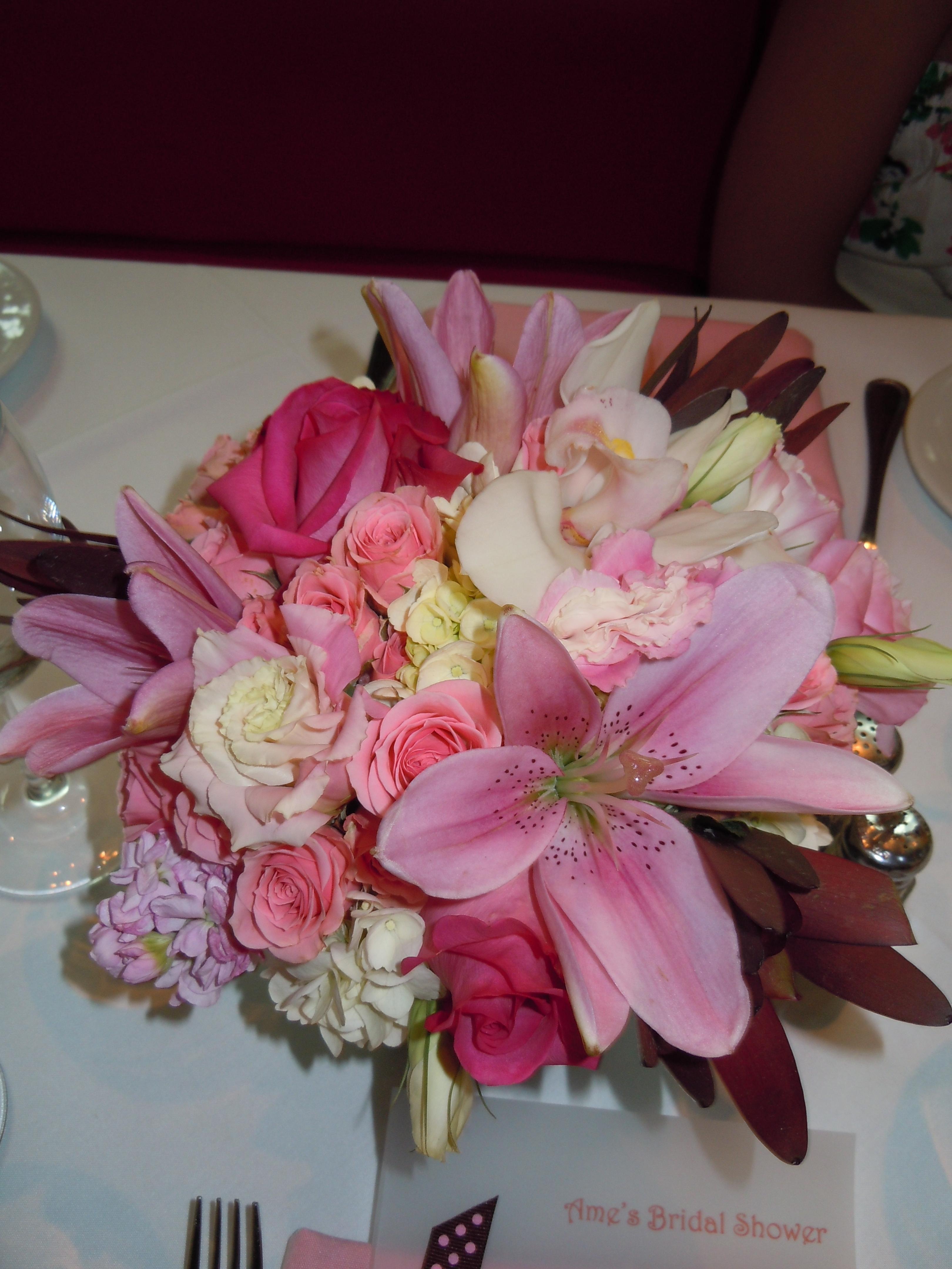 Party ideas pink brown bridal shower motif these altavistaventures Images