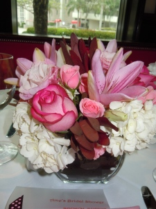Party Ideas: Pink & Brown Bridal Shower Motif