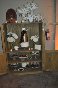 Unique way to display a dessert station