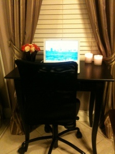 My Very Small, but functional current work space. A Bella Vida Style's place of creation