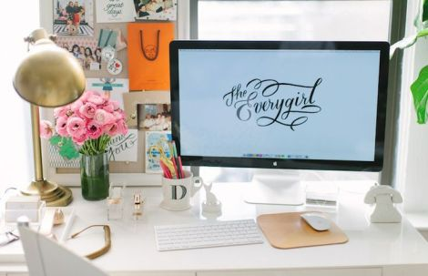 A Closer look at The Every Girl workspace. Photo by The Every via Pinterest
